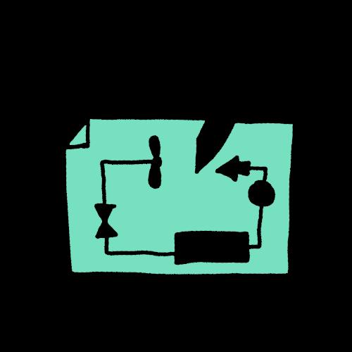 Illustration Verfahrenstechnik | Plötzeneder GmbH – Spezialisten für Pharma- und Medizintechnik